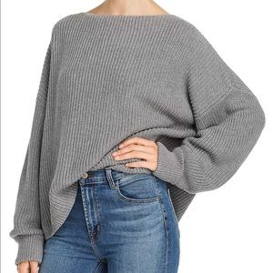 French Connection Knit Gray Boat neck Sweater M
